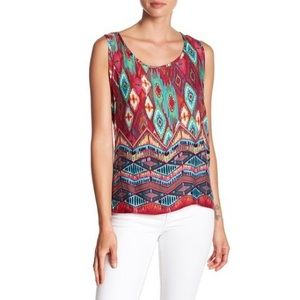 Papillon | Print & Lace Top
